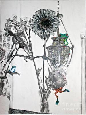 Frogs Hanging Everywhere Poster by Elena Kazmier Miranda Radock