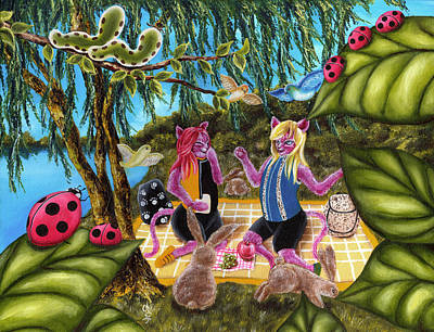 From Purple Cat Illustration 12 Poster by Hiroko Sakai