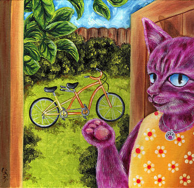 Poster featuring the painting From Purple Cat Illustration 22 by Hiroko Sakai