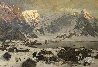 From Reine I Lofoten Poster by Otto Sinding