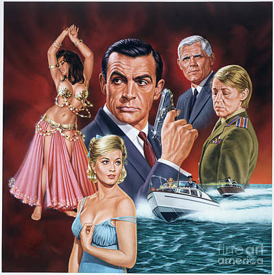From Russia With Love Poster by Dick Bobnick