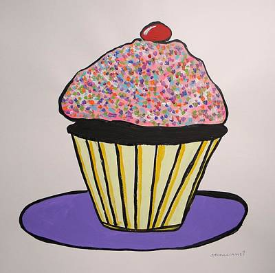 Poster featuring the painting From The Cupcake Cafe by John Williams