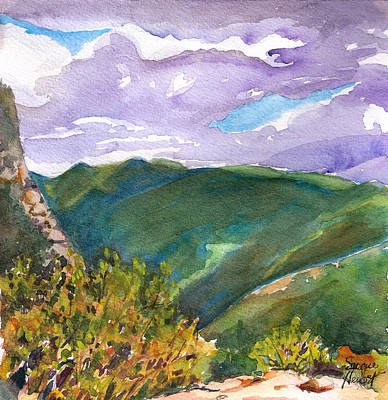 Poster featuring the painting From Tuckerman's Ravine by Susan Herbst