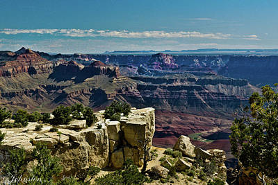 Poster featuring the photograph From Yaki Point 2 Grand Canyon by Bob and Nadine Johnston