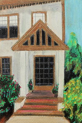 Poster featuring the painting Front Door 1 by Jeanne Fischer