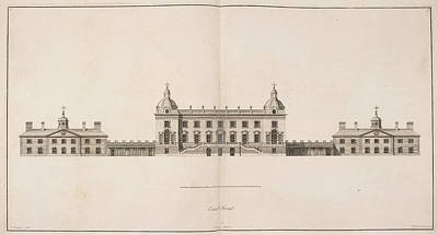 Front Elevation Of Houghton Hall Poster by British Library