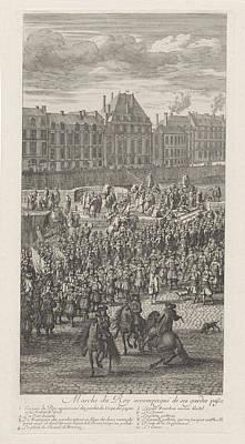 Front Of The Procession Of King Louis Xiv Of France Poster by Jan Van Huchtenburg And Adam Frans Van Der Meulen