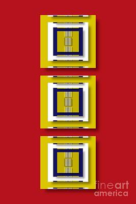 Poster featuring the digital art Frontdoor by Darla Wood