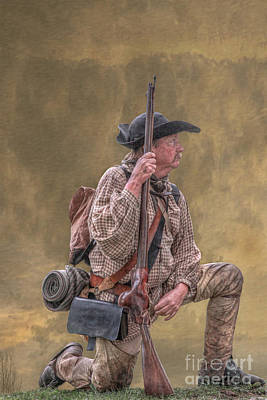 Frontiersman Golden Morning Poster by Randy Steele