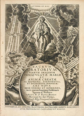 Frontispiece To 'sacrum Oratorium Piarum' Poster by British Library