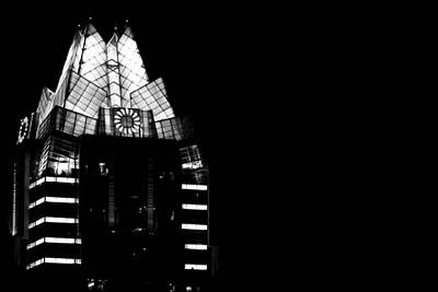 Frost Bank Tower At Night Poster by Jeff Kauffman