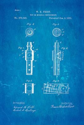 Frost Kazoo Patent Art 1883 Blueprint Poster