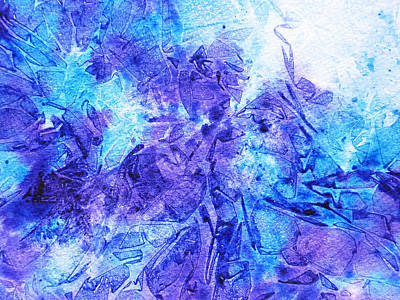 Frosted Window Abstract I   Poster