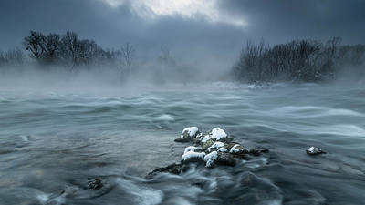 Frosty Morning At The River Poster