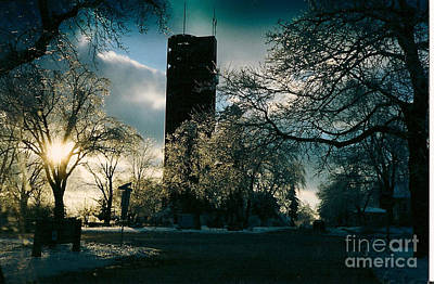 Frosty Sunrise At Tower Park Poster
