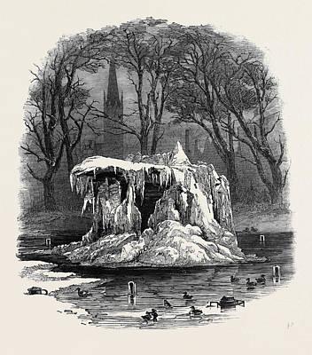 Frozen Fountain, Bowling Green Poster by American School