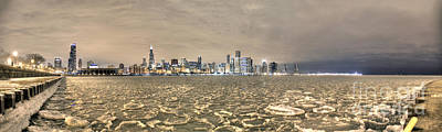Frozen Harbor Panorama Poster by Steven K Sembach