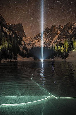 Frozen Illumination At Dream Lake Rmnp Poster by Mike Berenson