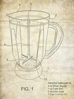 Frozen Margarita Recipe Patent Poster by Edward Fielding