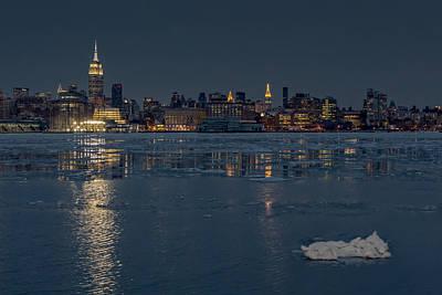 Frozen Midtown Manhattan Nyc Poster by Susan Candelario