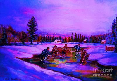 Frozen Pond Poster by Carole Spandau