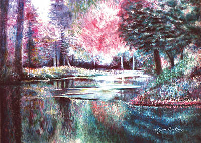 Poster featuring the painting Frozen Pond by Lynn Buettner