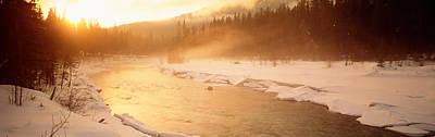 Frozen River, Bc, British Columbia Poster
