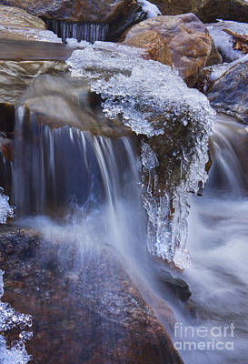 Poster featuring the photograph Frozen Stream by Rafael Quirindongo