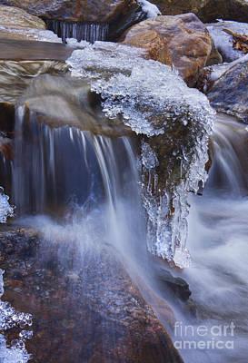 Frozen Stream Poster by Rafael Quirindongo