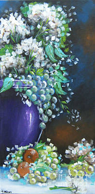 Poster featuring the painting Fruit And Flowers Still Life by Patrice Torrillo