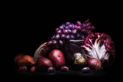 Fruit And Vegetables Still Life Poster by Tom Mc Nemar