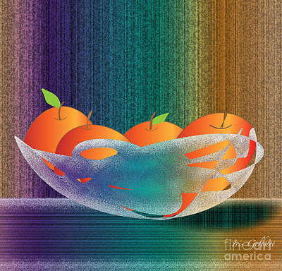 Fruit Bowl Poster by Iris Gelbart