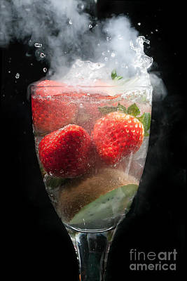 Fruit Cocktail Explosion Poster by Simon Bratt Photography LRPS