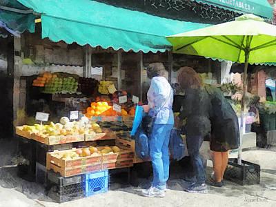 Fruit For Sale Hoboken Nj Poster by Susan Savad