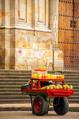 Fruit For Sale On A Cart Poster