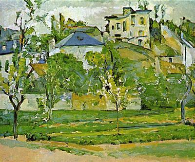 Fruit Garden In Pontoise By Cezanne Poster