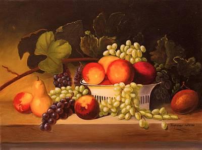 Fruit Harvest Poster by Jeanene Stein