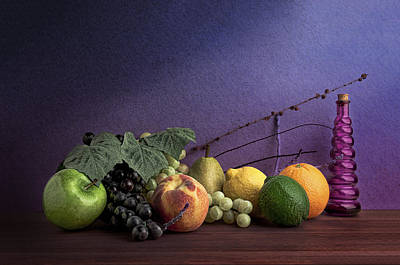 Fruit In Still Life Poster by Tom Mc Nemar