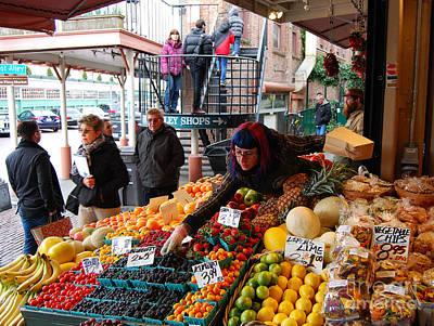 Fruit Market Vendor Poster
