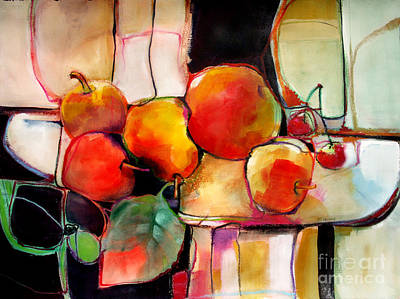 Poster featuring the painting Fruit On A Dish by Michelle Abrams