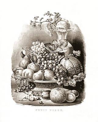 Fruit Piece - 1859 Poster