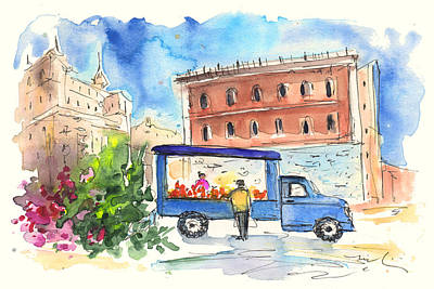 Fruit Street Seller In Palermo Poster by Miki De Goodaboom