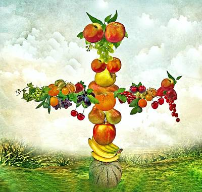 Fruit Tree Poster by Manfred Lutzius