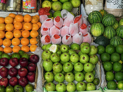 Fruits And Vegetables For Sale Poster by Panoramic Images