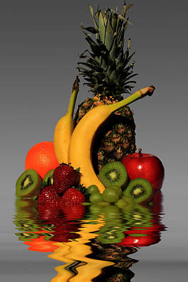 Fruity Reflections - Medium Poster by Shane Bechler