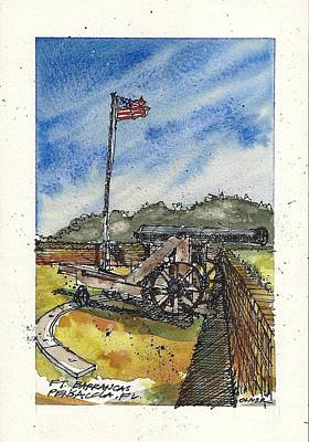 Poster featuring the mixed media Ft. Barrancas Cannon by Tim Oliver