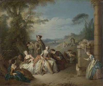 Fête Galante In A Landscape, Jean Baptiste François Pater Poster