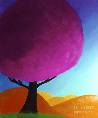 Poster featuring the painting Fuchsia Tree by Anita Lewis