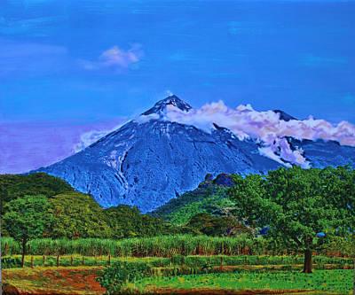 Fuego Volcano Guatamala Poster