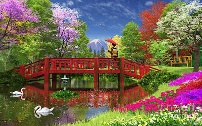 Fuji Lake Poster